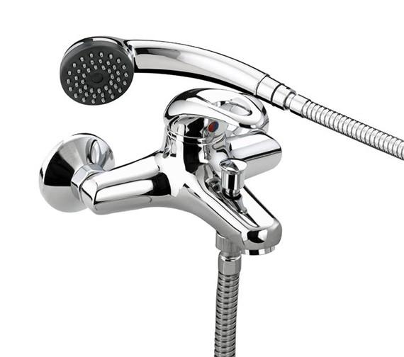 Bristan Java Wall Mounted Bath Shower Mixer Tap With Kit - J WMBSM C