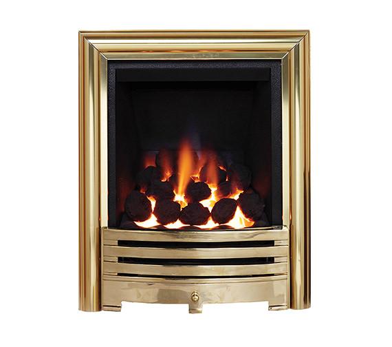 Be Modern Contessa Slimline Inset Gas Fire Brass - 81493