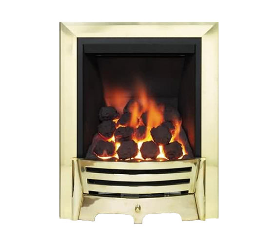 Be Modern Mayfair Full Depth Thermostat Inset Gas Fire Brass Coal 81523