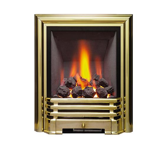 Be Modern Savannah Full Depth Inset Gas Fire Brass-Coal - 81108