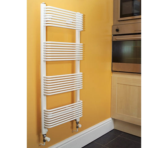 Apollo Trieste Superior White Towel Warmer 450 x 1070mm - TWSW4.5W1070