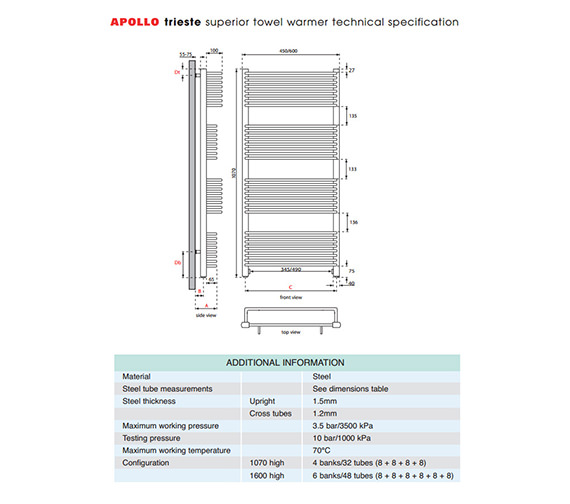 Technical drawing QS-V35578 / TWSPW4.5W1070