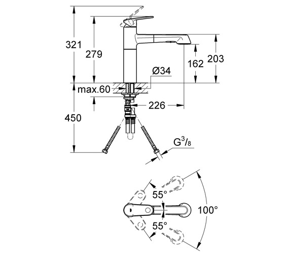 Technical drawing QS-V28620 / 33933002