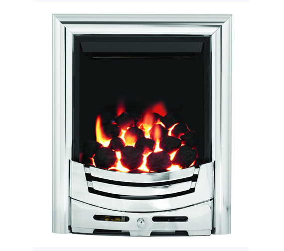 Be Modern Signum Full Depth Thermostat Inset Gas Fire Chrome - 55123