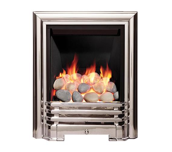 Be Modern Savannah Full Depth Inset Gas Fire Chrome-Pebble - 81167