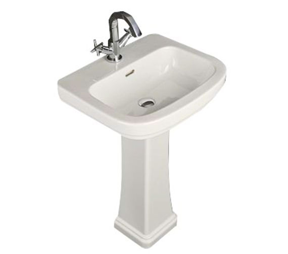 RAK Decor 1 Tap Hole Basin With Full Pedestal 550mm - DEC55BAS1