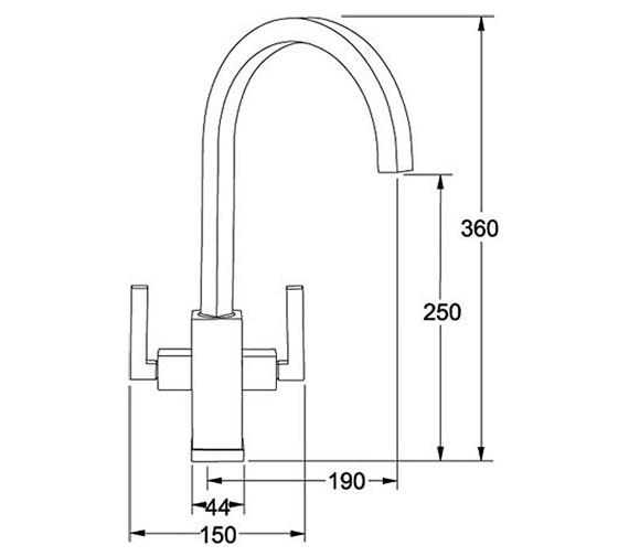 Image 2 of Franke Planar Kitchen Sink Mixer Tap Chrome - 115.0049.999