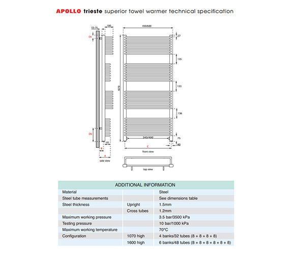 Technical drawing QS-V35574 / TWSPC4.5W1070