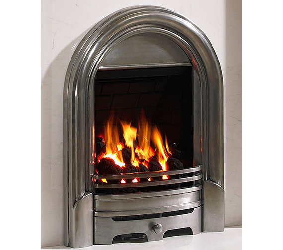 Be Modern Abbey Full Depth Thermostat Inset Gas Fire Polished - 29246