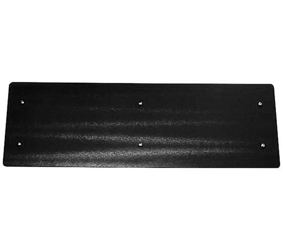 Apollo Ferrara Black Glass Horizontal Radiator 1420 x 500mm