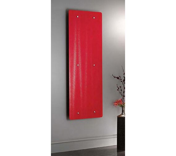 Apollo Ferrara Red Glass Vertical Radiator 500 x 1420mm