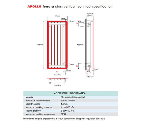 Technical drawing QS-V55880 / FG14SS6S_RED
