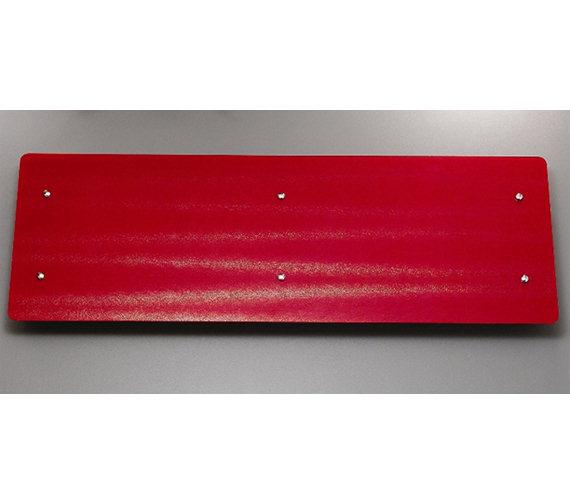 Apollo Ferrara Red Glass Horizontal Radiator 1420 x 500mm
