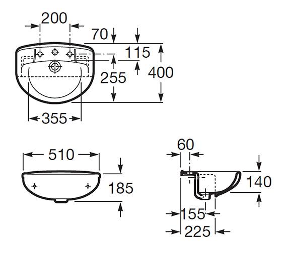 Technical drawing QS-V56774 / 32739E000