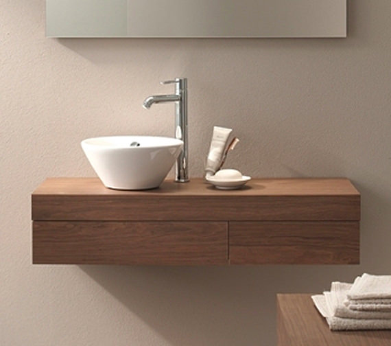 Duravit Fogo 1200 x 360mm Left Cut-Out Console Including Drawer - FO8377