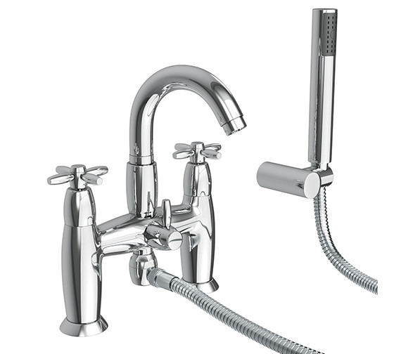 Abode Opulence Deck Mounted Bath Shower Mixer Tap With Handset