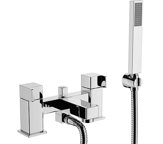 Abode Rapport Deck Mounted Bath Shower Mixer Tap With Handset - AB1608