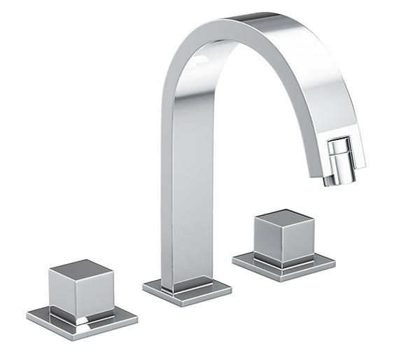 Abode Zeal 3 Part Basin Filler Tap With Pop-up Waste AB1275