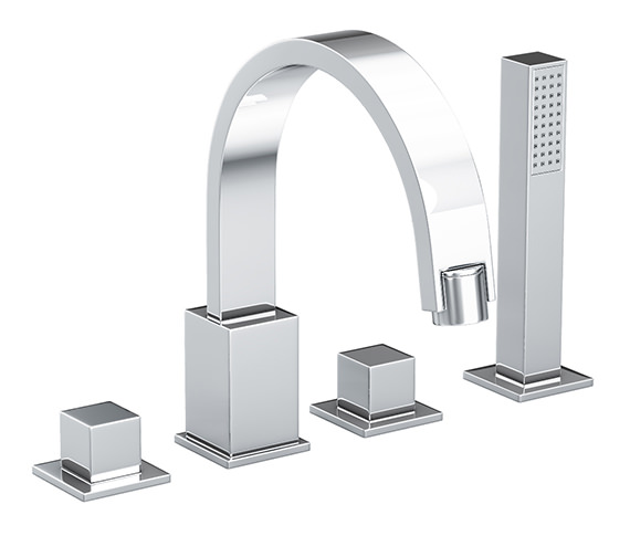 Abode Zeal 4 Hole Bath Filler Tap With Diverter - AB1279