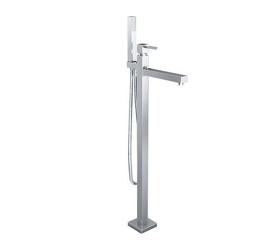 Abode Zeal Floor Standing Bath Filler Tap With Shower Kit - AB1281