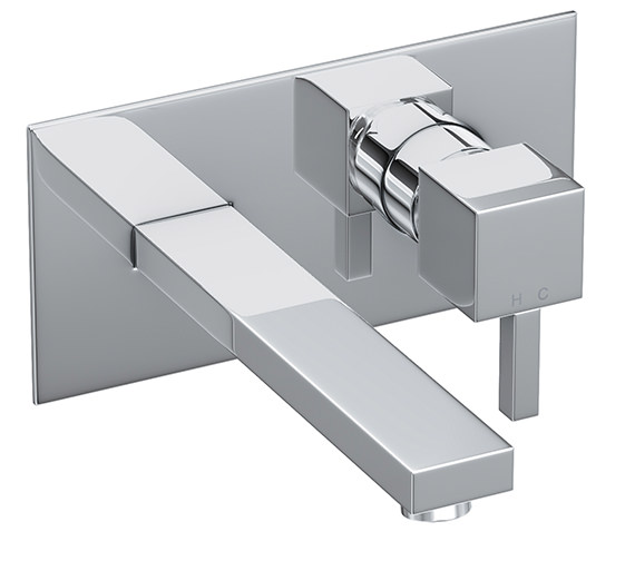 Abode Zeal Wall Mounted Chrome Basin Mixer Tap - AB1276