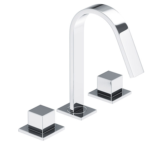 Abode Zeal Deck Mounted 3 TH Basin Mixer Tap Chrome - AB1290