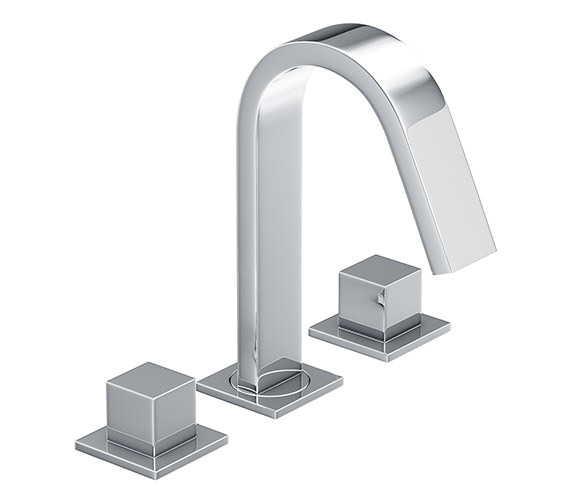 Abode Zeal Deck Mounted 3TH Bath Mixer Tap Chrome - AB1291