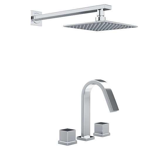 Abode Zeal Thermostatic 3TH Bath Mixer Tap And Showerhead - AB3068
