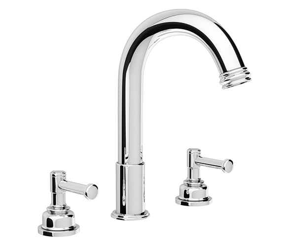 Abode Gallant Deck Mounted 3 Hole Traditional Bath Filler Tap