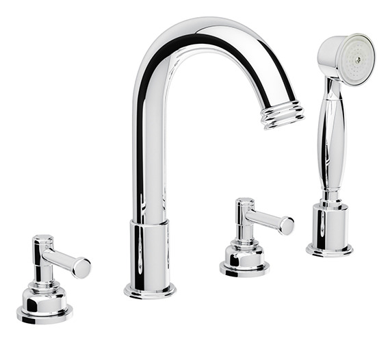 Abode Gallant 4TH Bath Shower Mixer Tap With Handset - AB1711