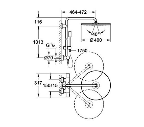 Technical drawing QS-V61257 / 27174001
