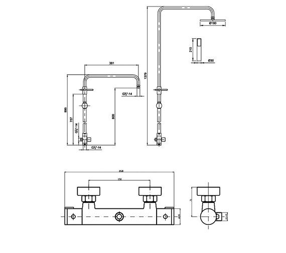 Technical drawing QS-V60258 / VBS006