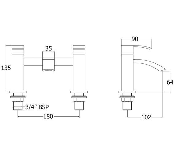Technical drawing QS-V43125 / SWO108