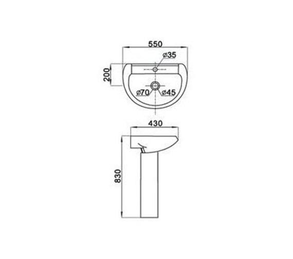Technical drawing QS-V1011 / AQVA/LMK839