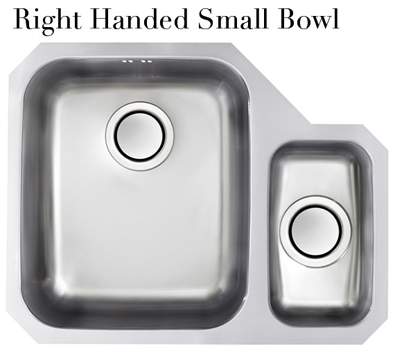 Additional image of Astracast Edge D1 1.5 Bowl Polished Stainless Steel Undermount Sink And Tap