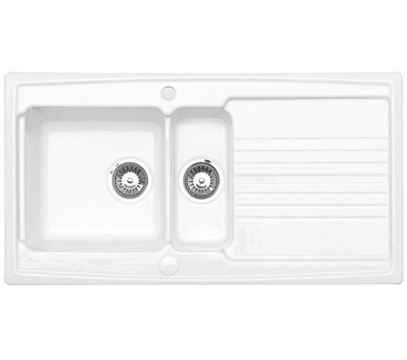 Astracast Equinox 1.5 Bowl White Ceramic Inset Kitchen Sink