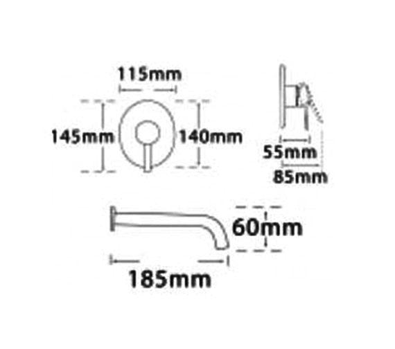 Technical drawing QS-V57046 / 42072