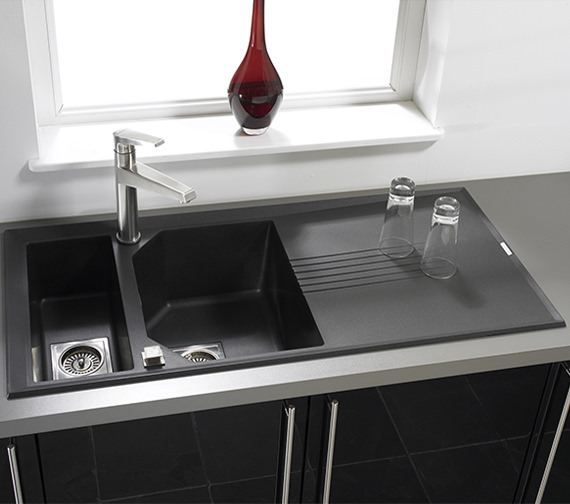 Additional image of Astracast Helix 1.5 Bowl Composite ROK Metallic Inset Sink