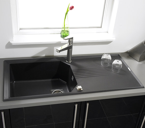 Additional image of Astracast Helix Compact 1.0 Bowl Composite ROK Metallic Inset Sink