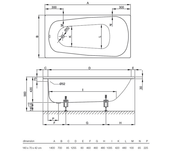 Technical drawing QS-V38439 / 3400 HL
