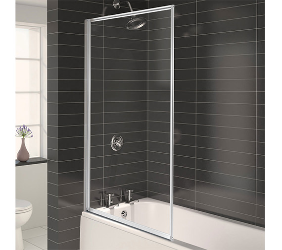 Aqualux Aqua 3 Fully Framed Bath Screen Pearl Silver - FS6265AQU