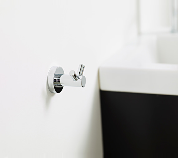 Additional image of Miller Bond Chrome Single Robe Hook