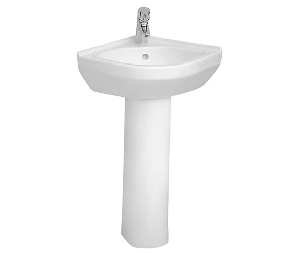 VitrA S50 565 x 400mm Corner Basin With Full Pedestal