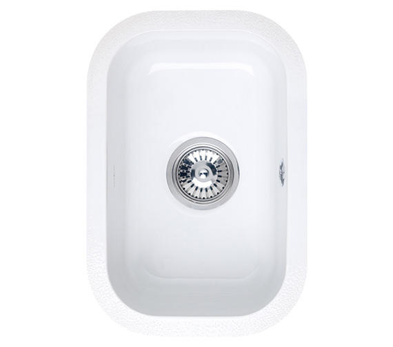 Astracast Lincoln 2540 0.5 Bowl Ceramic Gloss White Undermount Sink