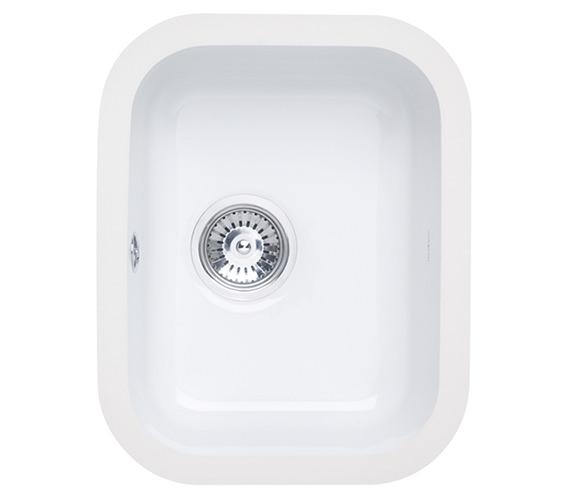 Astracast Lincoln 3040 Main Bowl Ceramic Gloss White Undermount Sink