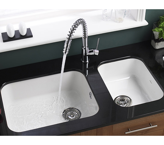 Additional image of Astracast Lincoln 3040 Main Bowl Ceramic Gloss White Undermount Sink