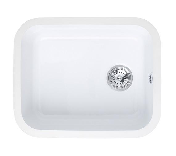 Astracast Lincoln 5040 Main Bowl Ceramic Gloss White Undermount Sink