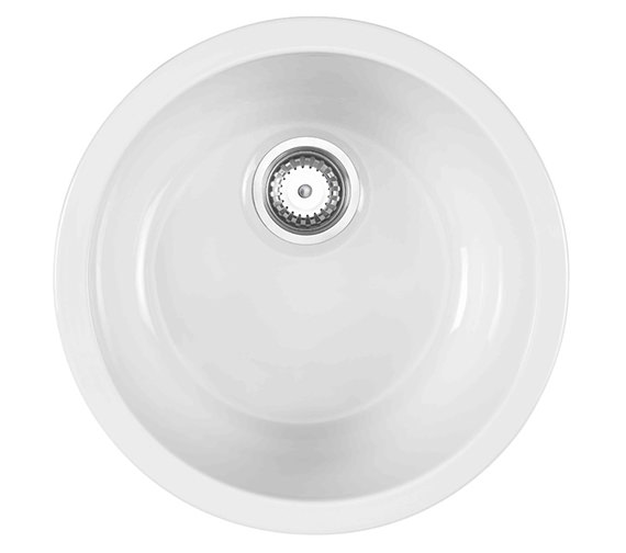 Astracast Lincoln Round Bowl Ceramic Inset Or Undermount Sink