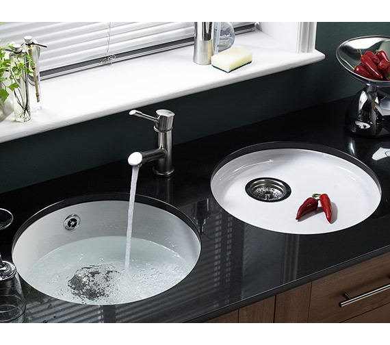 Additional image of Astracast Lincoln R1 460mm Round Bowl Ceramic Inset Or Undermount Sink