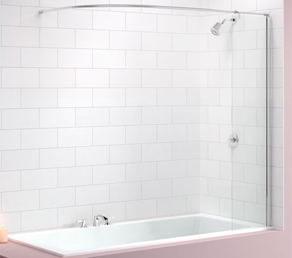 Merlyn Ionic Curtain Rail Bath Screen 300 x 1550mm - MB5